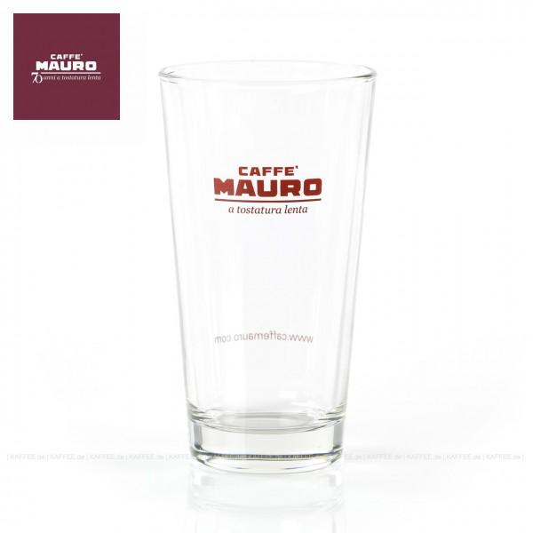 Glas bedruckt mit CAFFÈ MAURO-Logo, 6 Gläser pro VPE, EAN-Code: 8002530941015